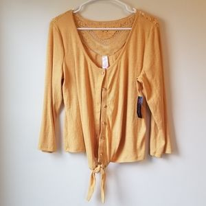 Yellow Top with Front Tie